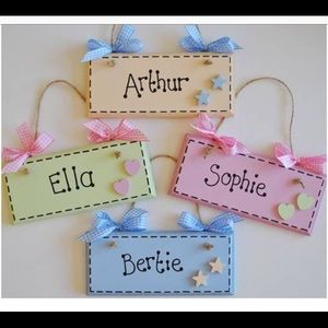 Adorable Name Plaques / Customized Door Signs